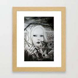 Lady of the Maze Framed Art Print