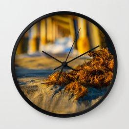 Sunrise Seaweed Macro Wall Clock