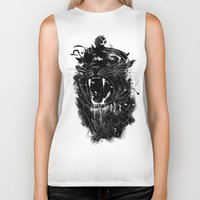 king Biker Tanks featuring The King by nicebleed