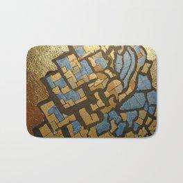 Gold cubic Eiffel tower close up Bath Mat