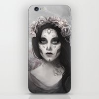 day of the dead iPhone & iPod Skins featuring Day of the Dead by Nicolas Jamonneau