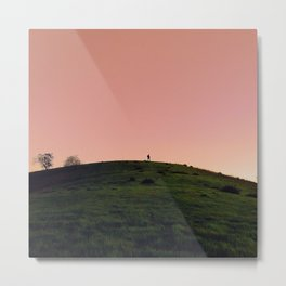 Alone in Pink Metal Print