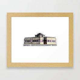 GALLERY SQUARE CHALET Framed Art Print