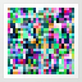 Random Cubes Art Print