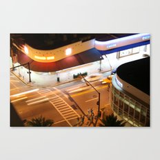 Miami Beach street lights Canvas Print
