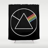 dark side Shower Curtains featuring Dark Side by tycejones
