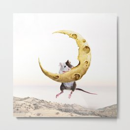 Cheese Moon Metal Print