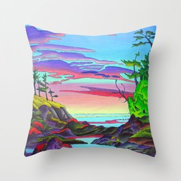 Pacific Pacific by Amanda Martinson Throw Pillow