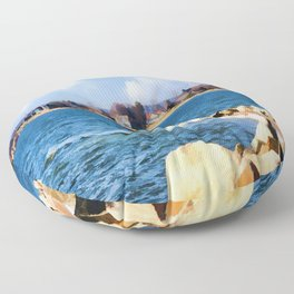 New England Shoreline - Painterly Floor Pillow