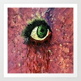 hand painted eye Art Print