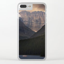 Sunrise Over Grinnell Glacier and Swiftcurrent Lake. Clear iPhone Case