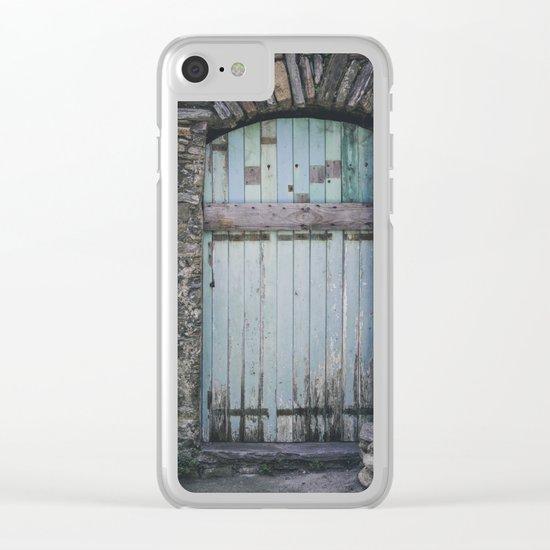 Old Blue Door II Clear iPhone Case