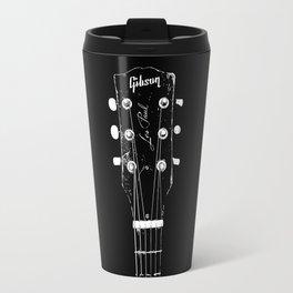 Old Gibson Les Paul Guitar Head - Rock Music - Pop Culture Travel Mug