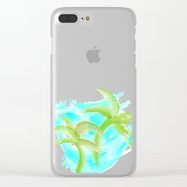 Tropical Abstract_Oceans Clear iPhone Case