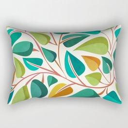Retro Tropical Vine Rectangular Pillow