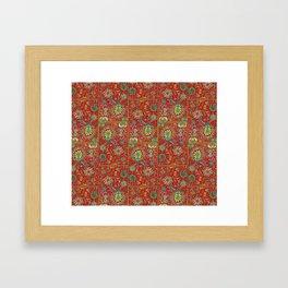 Bursts of India Jacobean - Victorio Road Series Framed Art Print