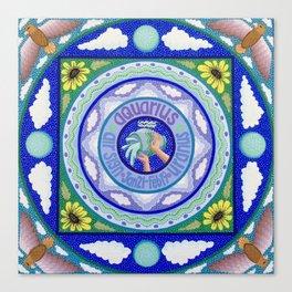 Zodiac Sign of Aquarius Canvas Print