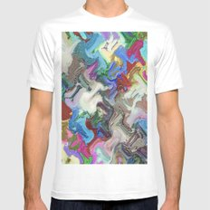 Migration MEDIUM White Mens Fitted Tee