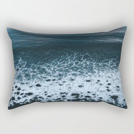 Iceland waves and shapes - Landscape Photography Rectangular Pillow