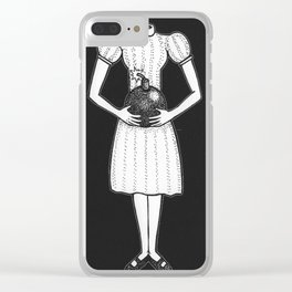 Here, I Made This For You (Black Background) Clear iPhone Case