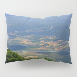 River, Tree and Mountain Landscape Pillow Sham