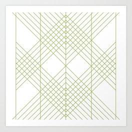 Green Lines Art Print