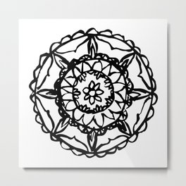 Abstract Bohemian Pattern Metal Print