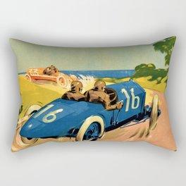 1922 Vintage Auto Motor Club Racing Armangue Trophy Tarragona Spain Advertising Poster Rectangular Pillow