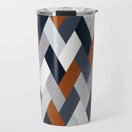 Navy Rust Geometry VI Travel Mug