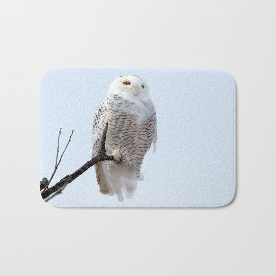 Lofty Vision (Snowy Owl) Bath Mat