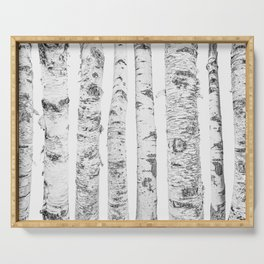 Birch Trees   Forest Landscape Photography Minimalism Serving Tray