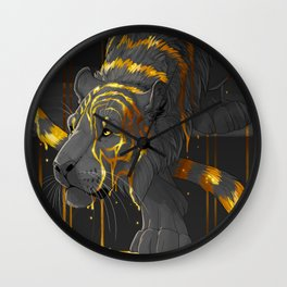 molten tiger Wall Clock