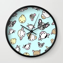 Blue Critter Collection Wall Clock