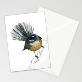 Mr Pīwakawaka, New Zealand native bird fantail Stationery Cards