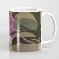 orchid Mugs featuring Orchid by Steve Purnell