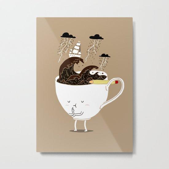 Brainstorming Coffee Metal Print
