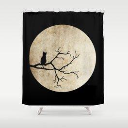 Cat Night Shower Curtain