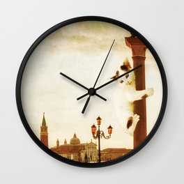 Giant Kitten in San Marco's Square (Venice) Wall Clock