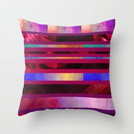 Dazzled Stripy Throw Pillow
