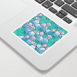 Pigeon Crowd Sticker