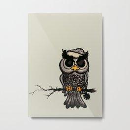 Angry owl Metal Print