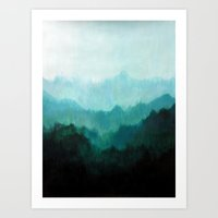 trees Art Prints featuring Mists No. 2 by Prelude Posters