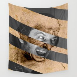 Leonardo da Vinci's Head for The Battle of Anghiari & Jack Nicholson Canvas Wall Tapestry