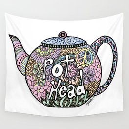 Tea Pot Head Wall Tapestry
