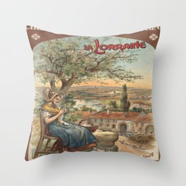 Vintage poster - France Throw Pillow