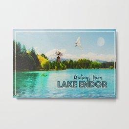 Greetings From Lake Endor Metal Print