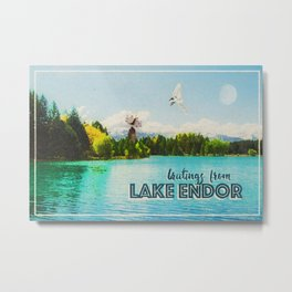 Greetings From Lake Endor Metal Print