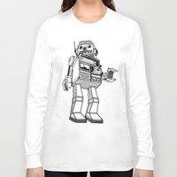 robot Long Sleeve T-shirts featuring Robot. by Scott Mckenzie-Lee