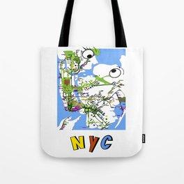 Kiss-NYC map Tote Bag