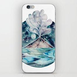 Stromboli Volcano at Midnight – Blue Palette iPhone Skin